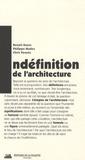 Benoît Goetz et Philippe Madec - L'indéfinition de l'architecture - Un appel.