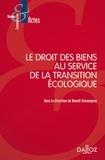 Benoît Grimonprez - Le droit des biens au service de la transition écologique.