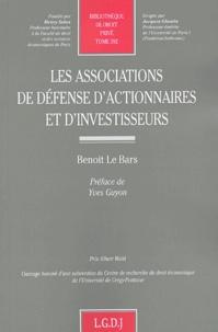 Benoit Le Bars - Les associations de défenses d'actionnaires et d'investisseurs.