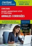 Benoît Priet et Audrey Charmont - Concours Adjoint administratif Etat & Territorial - Annales corrigées -  2020-2021.