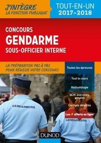 Benoît Priet et Rénald Boismoreau - Le concours Gendarme sous-officier interne - 2017-2018 - Tout-en-un.