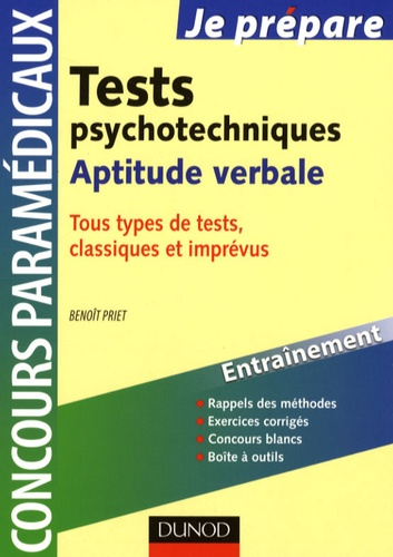 Benoît Priet - Tests psychotechniques - Aptitude verbale.