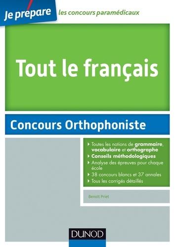 Benoît Priet - Tout le français - Concours orthophoniste.