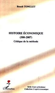 Benoît Tonglet - Histoire économique (500-2007) - Critique de la méthode.
