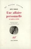 Beppe Fenoglio - Une Affaire personnelle - Et autres récits.