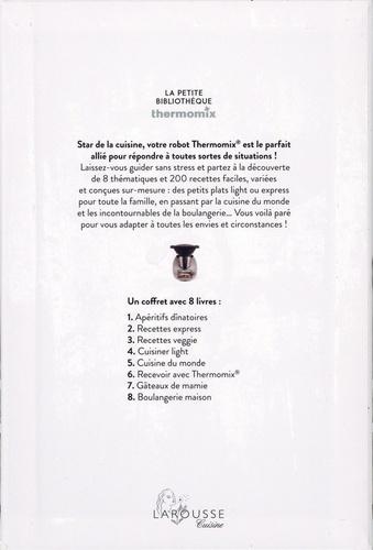 La Petite Bibliothèque Thermomix. Coffret en 8 volumes : Apéritifs dînatoires ; Recettes express ; Recettes veggie ; Cuisine du monde ; Cuisiner light ; Recevoir avec Thermomix ; Gâteaux de Mamie ; Boulangerie maison