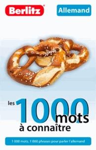 Berlitz - Allemand - Les 1000 mots à connaître.