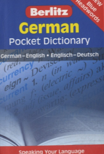 Berlitz - German Pocket Dictionnary - German-English / English-Deutsch.