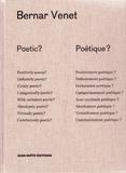 Bernar Venet - Bernar Venet poétique?.