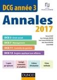 Bernard Augé et Jean-Christophe Bauzin - DCG Année 3 - Annales 2017.