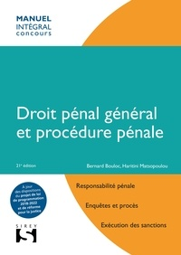 Bernard Bouloc et Haritini Matsopoulou - Droit pénal général et procédure pénale.