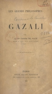 Bernard Carra de Vaux et Clodius Piat - Gazali.