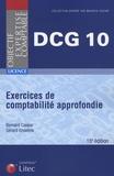 Bernard Caspar et Gérard Enselme - DCG10 - Exercices de comptabilité approfondie.