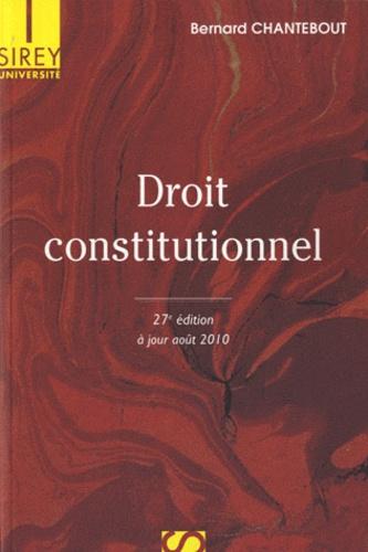 Droit constitutionnel 27e édition