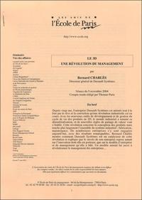 Bernard Charlès - Le 3D une révolution du management.