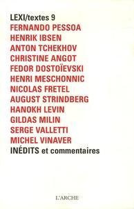 Bernard Comment et Alain Badiou - Lexi/textes 9 - Inédits et commentaires.