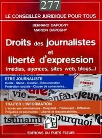 Bernard Dapogny et Marion Dapogny - Droits des journalistes et liberté d'expression - (Médias, agences, sites internet, blogs...).