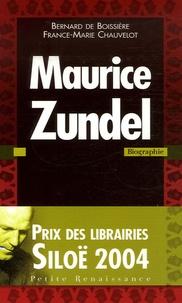 Bernard de Boissière et France-Marie Chauvelot - Maurice Zundel.