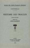 Bernard de Fontenelle - Histoire des oracles.