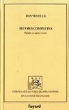 Bernard de Fontenelle - Oeuvres complètes - Tome 5, Théâtre et autres textes (1710-1751).