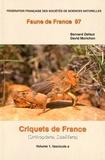 Bernard Defaut et David Morichon - Criquets de France (Orthoptera Caelifera) - Volume 1, fascicules a et b, 2 volumes.