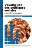 Bernard Delage - L'EVALUATION DES POLITIQUES SOCIALES. - Objectifs et moyens.