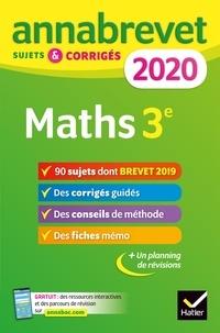 Bernard Demeillers et Emmanuelle Michaud - Annales du brevet Annabrevet 2020 Maths 3e - 90 sujets corrigés.