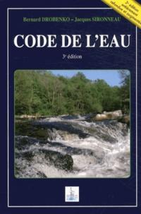 Bernard Drobenko et Jacques Sironneau - Code de l'eau.