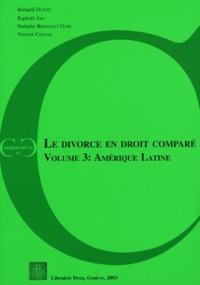 Goodtastepolice.fr Le divorce en droit comparé - Volume 3, Amérique Latine Image