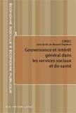 Bernard Enjolras - Gouvernance et intérêt général dans les services sociaux de santé.