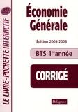 Bernard Epailly - Economie générale BTS tertiaires 1e année - Livre du professeur Corrigé.