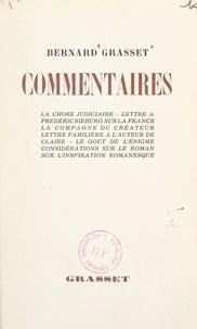 Bernard Grasset - Commentaires.