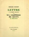 Bernard Grasset - Lettre à André Gillon sur les conditions du succès en libriairie.