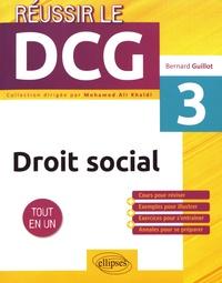 Bernard Guillot - Droit social UE3.