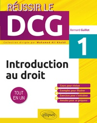 Introduction au droit UE 1 - Bernard Guillot |
