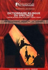 Openwetlab.it Dictionnaire bilingue du spectacle - Edition bilingue Français-Anglais Image