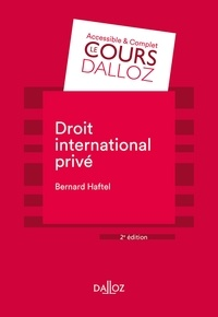 Bernard Haftel - Droit international privé - 2e ed..