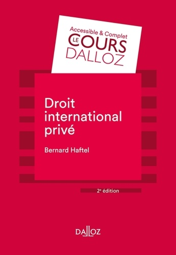 Droit international privé  Edition 2020