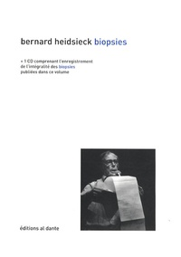 Bernard Heidsieck - Biopsies (1965-1969). 1 CD audio