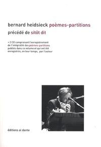 Bernard Heidsieck - Poèmes-Partitions (1955-1965) - Précédé de Sitôt dit (1955). 2 CD audio