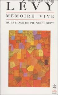Galabria.be Questions de principe - Tome 7, Mémoire vive Image