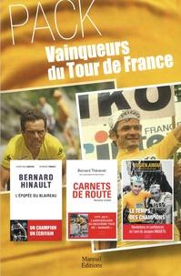 Bernard Hinault et Bernard Thévenet - Vainqueurs du tour de France - Coffret en 3 volumes : Le temps des champions, mémoires ; Carnets de route, mémoires cyclistes ; Bernard Hinault, l'épopée du blaireau.