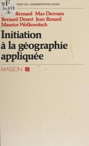 Initiation à la géographie appliquée