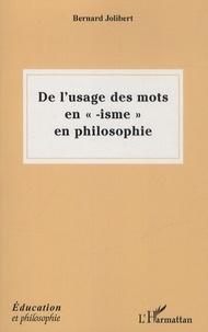 De lusage des mots en isme en philosophie.pdf