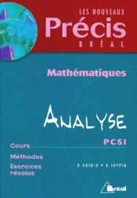 Bernard Joppin et Daniel Guinin - Mathématiques Tome 4 - Analyse.