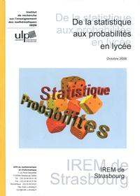 Bernard Koch - De la statistique aux probabilités en lycée. 1 DVD
