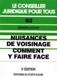 Bernard Lecourt - Niosances de voisinage - Comment y faire face.