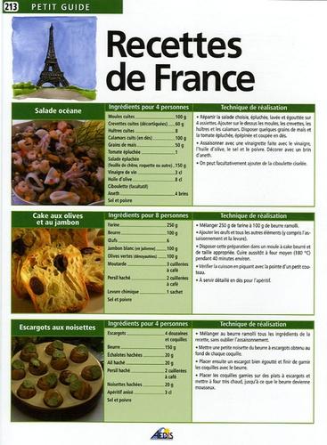 Bernard Legay - Recettes de France.