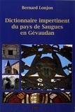 Bernard Lonjon - Dictionnaire impertinent du pays de Saugues en Gévaudan.