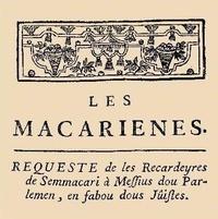 Bernard Manciet - Les macariennes - Poème en vers gascons.
